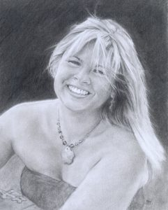 'Lisa', Pencil drawing, private commission